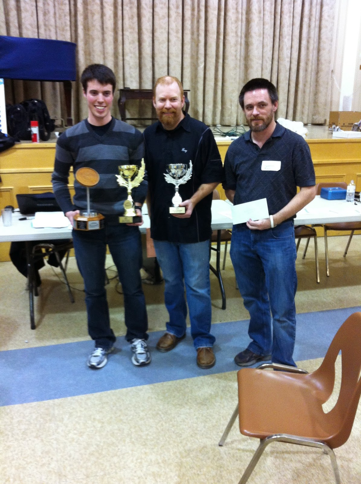 Left to Right: Nathan Walsh, Ray Beierling and Roy Campbell accept their top 3 prizes.