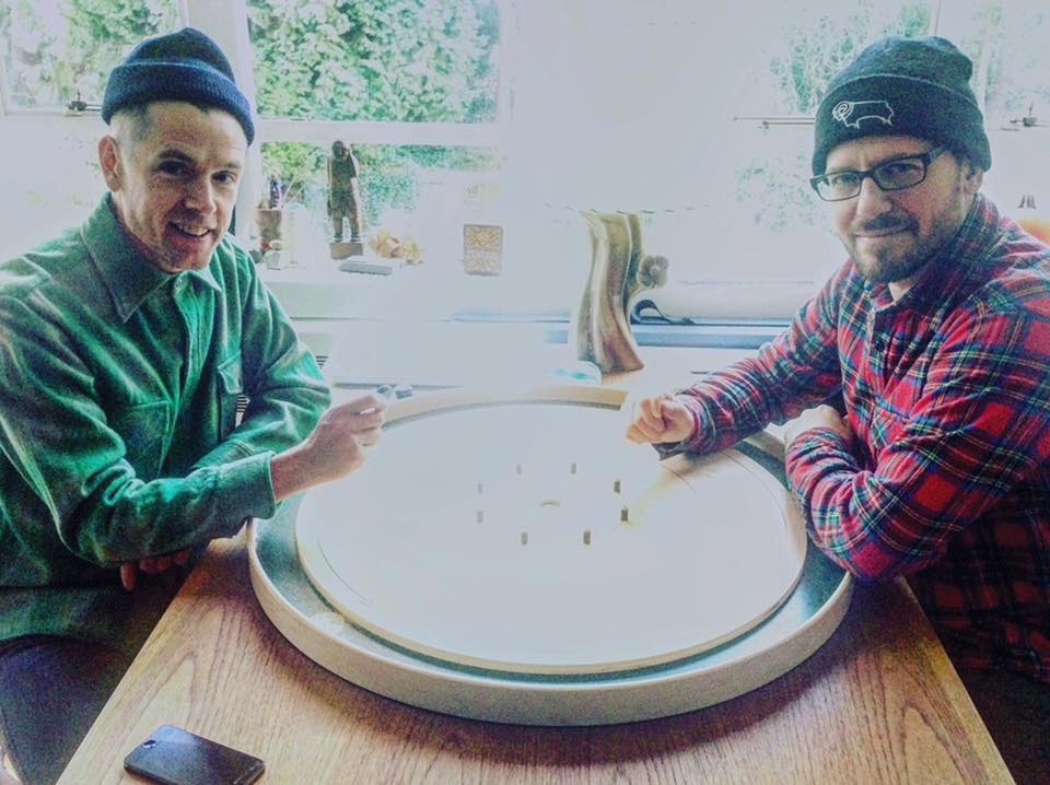 Thomas (left) and Pinel (right). Photo from: Vancouver Crokinole Club