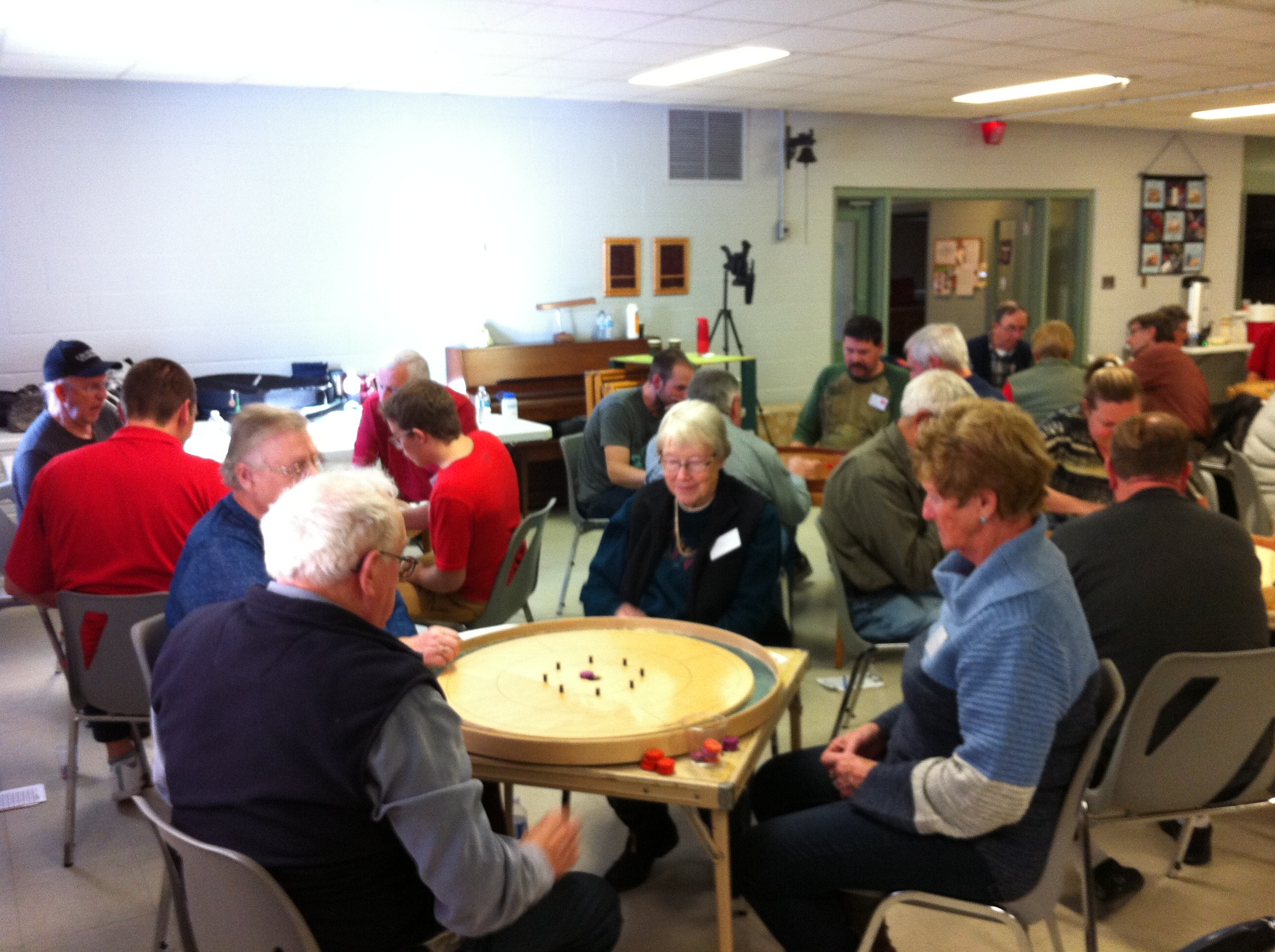 Recreational crokinole action