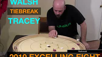 2019 Excelling Eight Crokinole - Tiebreak - Tracey v Walsh