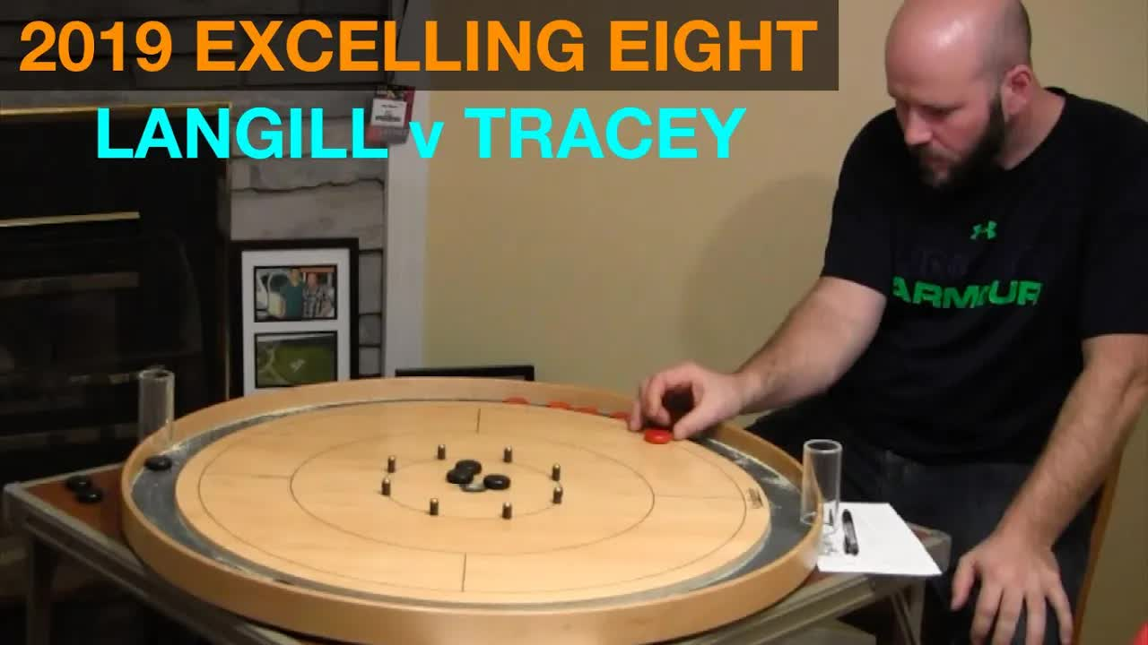 2019 Excelling Eight Crokinole - Singles - Tracey v Langill