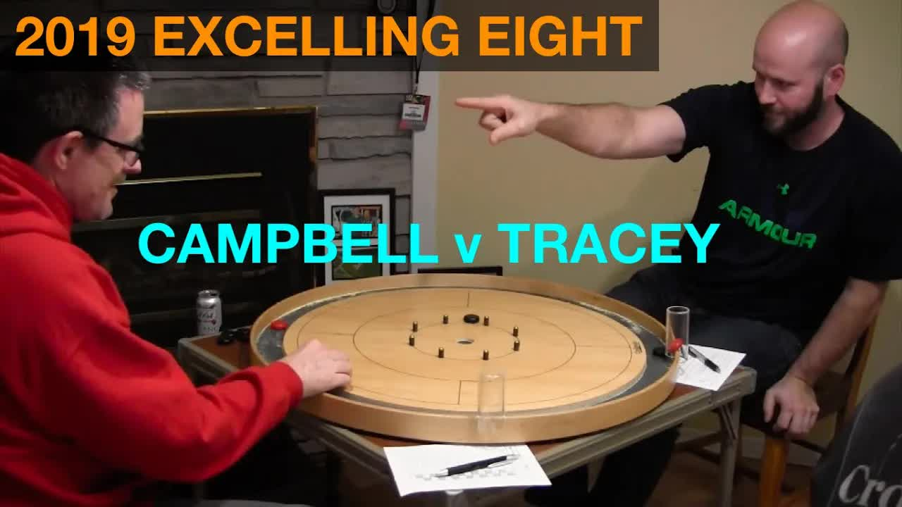 2019 Excelling Eight Crokinole - Singles - Tracey v Campbell